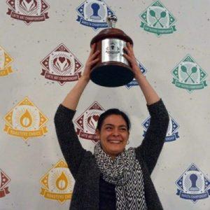 لیلا قنبری قهرمان مسابقات باریستا 2014 آمریکا
