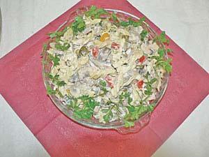 طرز تهیه سالاد مرغ با گوجه فرنگی