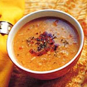 طرز تهیه سوپ عدس و سیر برای افراد دیابتی نوع
