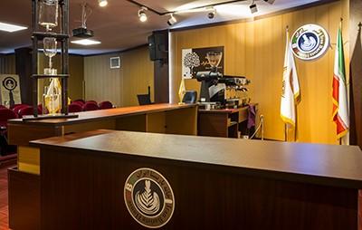سالن همایش مدرسه قهوه ایران