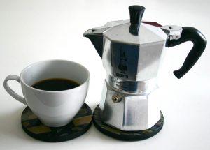 قهوه با دستگاه موکاپات