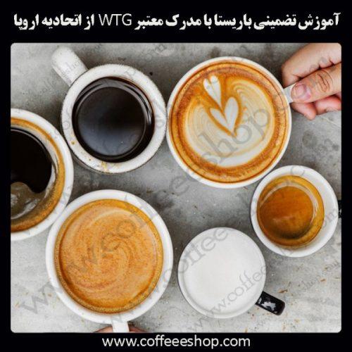 آموزشگاه قهوه، باریستا و مدیریت کافی شاپ داری با مدرک معتبر World Technology Group از اتحادیه اروپا