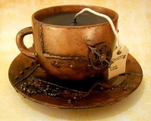 درست کردن شمع با قهوه