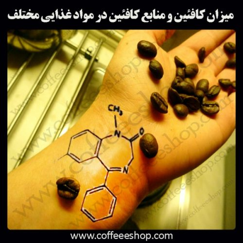 کافئین | میزان کافئین و منابع کافئین در مواد غذایی مختلف