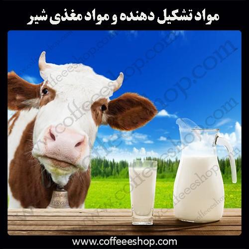 مواد تشکیل دهنده و مواد مغذی شیر