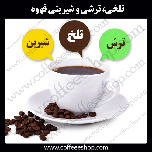 تلخی، ترشی و شیرینی قهوه