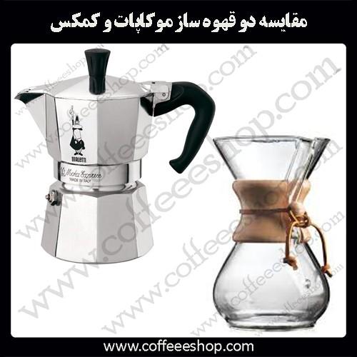 مقایسه دو قهوه ساز موکاپات و کمکس