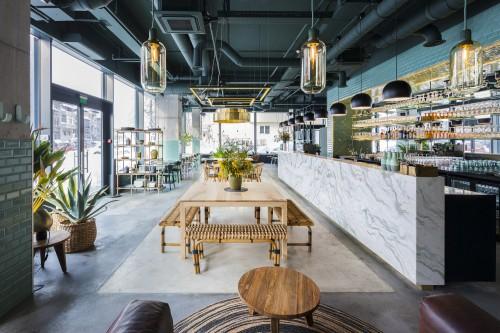 دکور صنعتی برای کافه