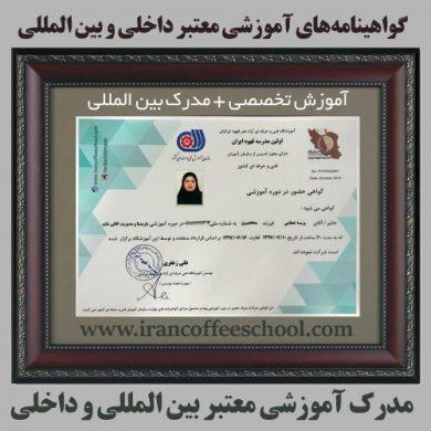 مدرک های آموزشی معتبر داخلی و بین المللی